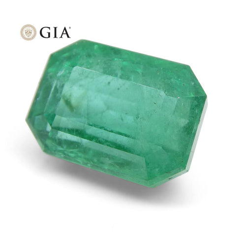 6.25 ct Octagonal/Emerald Cut Emerald GIA Certified