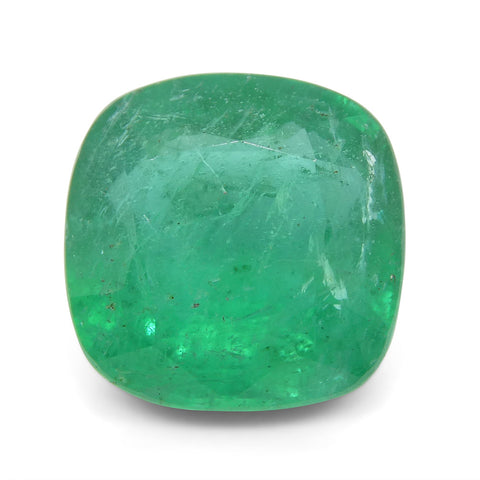 3.94 ct Cushion Emerald GIA Certified
