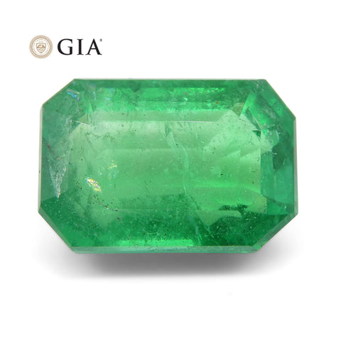 3.69 ct Octagonal/Emerald Cut Emerald GIA Certified