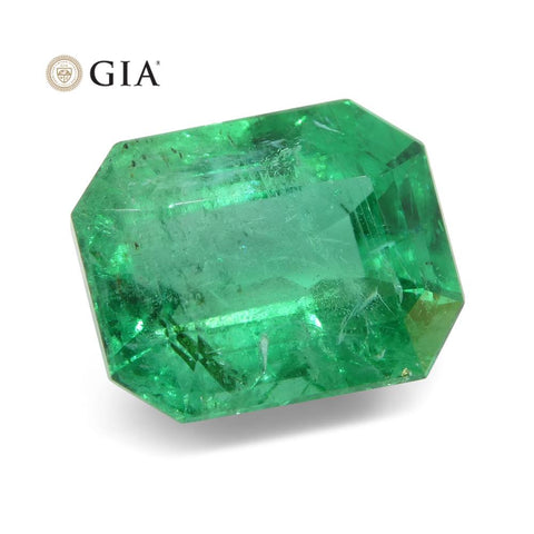 3.47 ct Octagonal/Emerald Cut Emerald GIA Certified