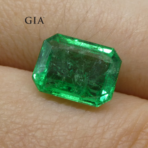 2.75 ct Octagonal/Emerald Cut Emerald GIA Certified