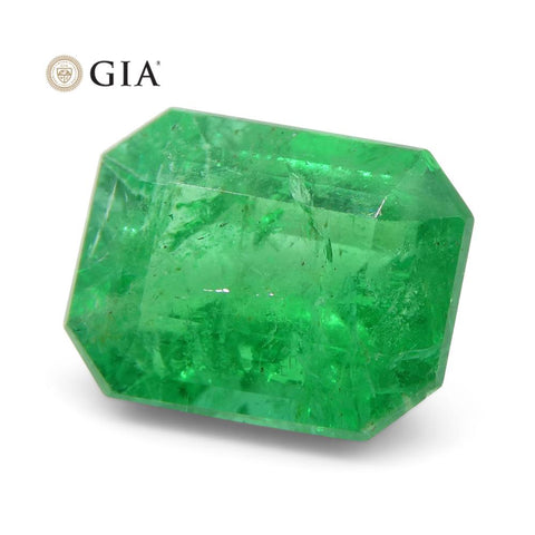 2.26 ct Octagonal/Emerald Cut Emerald GIA Certified