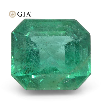 2.8ct Octagonal/Emerald Cut Emerald GIA Certified Zambian - Skyjems Wholesale Gemstones