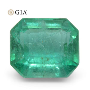 2.79ct Octagonal/Emerald Cut Emerald GIA Certified Zambian - Skyjems Wholesale Gemstones