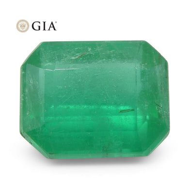 3.37ct Octagonal/Emerald Cut Emerald GIA Certified Zambian Untreated - Skyjems Wholesale Gemstones
