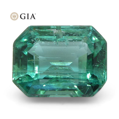 1.47ct Octagonal/Emerald Cut Emerald GIA Certified Zambian - Skyjems Wholesale Gemstones