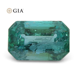 2.00ct Octagonal/Emerald Cut Emerald GIA Certified Zambian - Skyjems Wholesale Gemstones