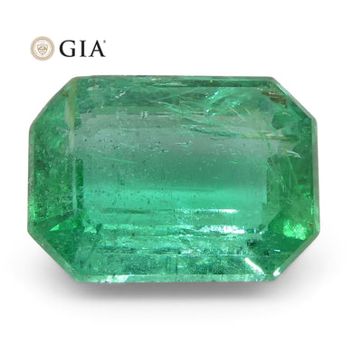 1.84ct Octagonal/Emerald Cut Emerald GIA Certified Zambian - Skyjems Wholesale Gemstones