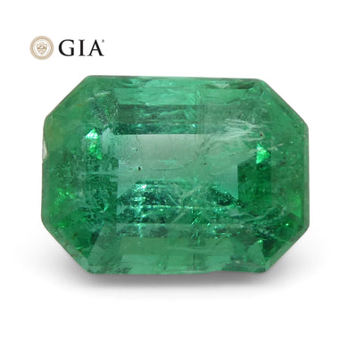 2.39ct Octagonal/Emerald Cut Emerald GIA Certified Zambian - Skyjems Wholesale Gemstones