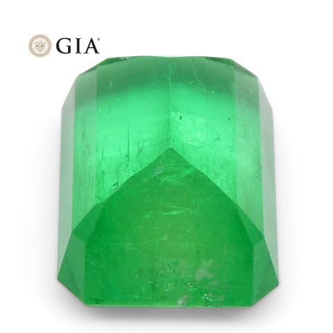 4.43ct Octagonal/Emerald Cut Emerald GIA Certified Colombian
