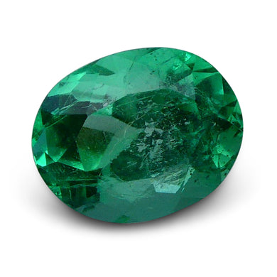 GIA Certified Colombian Emerald 1.01 Oval Modified Brilliant Green 6193654861 450