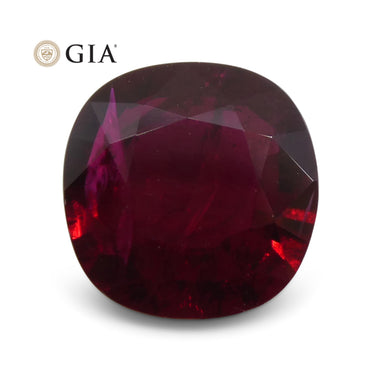 1.45 ct Cushion Ruby GIA Certified Mozambique - Skyjems Wholesale Gemstones