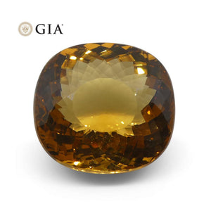 Beryl 11.49 cts 14.84 x 13.97 x 8.75 mm Cushion Brownish Yellowish Orange  $1150