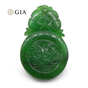 5.12ct Pierced Carving Jadeite Jade GIA Certified Untreated - Skyjems Wholesale Gemstones