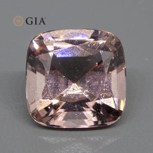 Morganite 6.88 cts 12.07 x 12.06 x 7.88 mm Cushion Orange-Pink  $1040