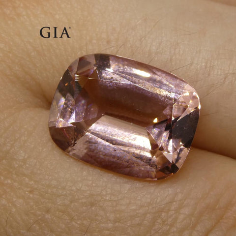 7.84ct Cushion Morganite GIA Certified