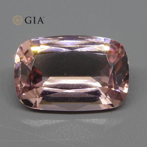 Morganite 10.5 cts 17.68 x 11.84 x 7.42 mm Cushion Orangy Pink  $2310