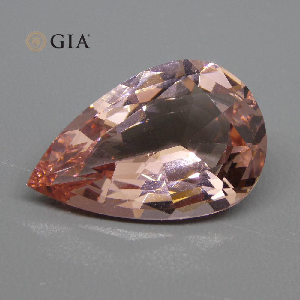 10.71ct Pear Morganite GIA Certified