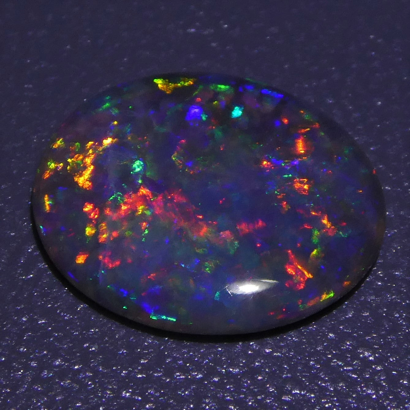 1.20 ct Oval Australian Olympic Semi-Black Opal GIA Certified