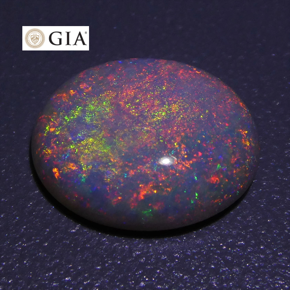 2.59 ct Oval Australian Olympic Opal GIA Certified