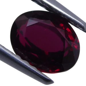 1.02 ct Ruby Oval GIA Certified Unheated