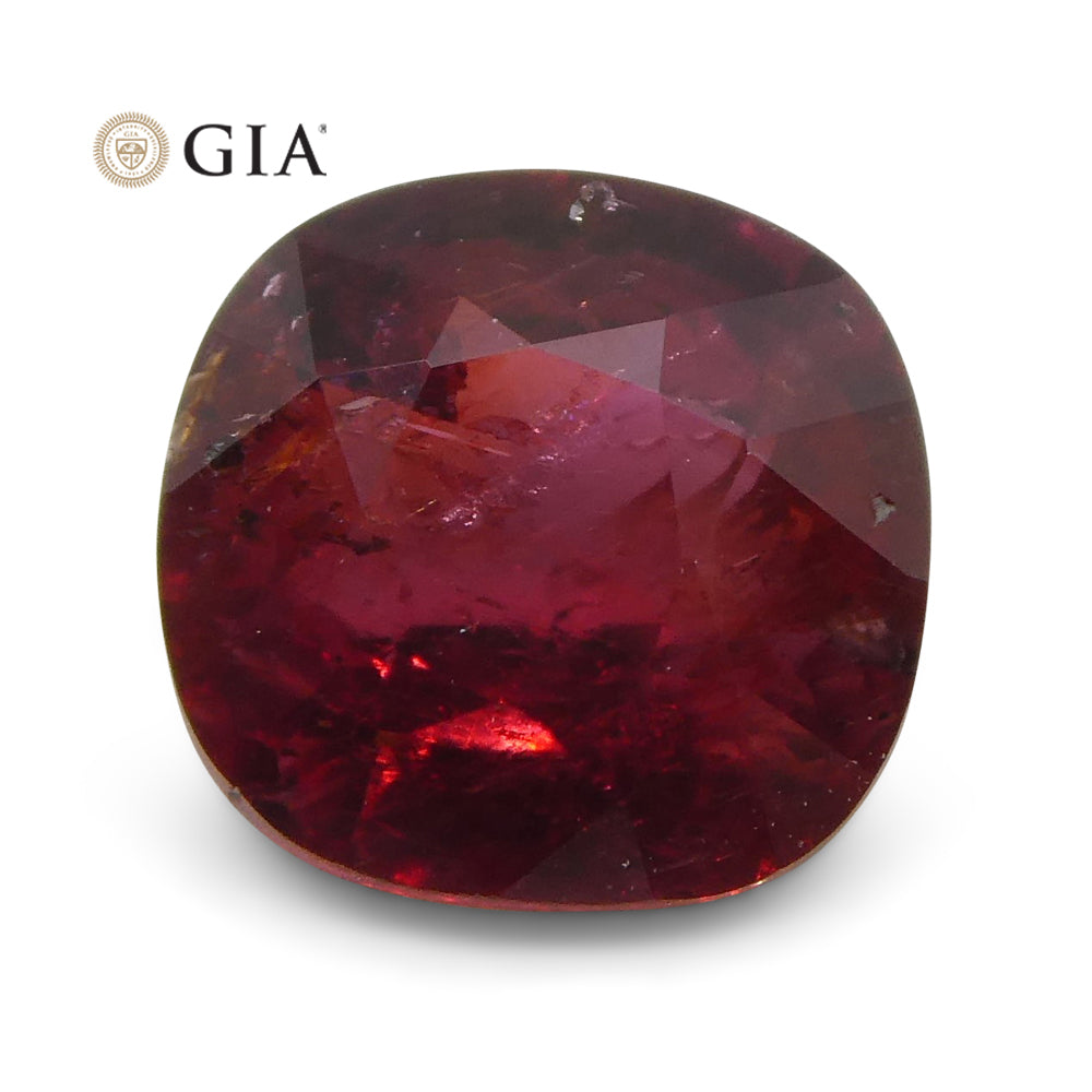 0.95 ct Cushion Ruby GIA Certified Madagascar Unheated