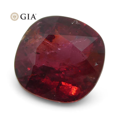 0.95 ct Cushion Ruby GIA Certified Madagascar Unheated - Skyjems Wholesale Gemstones