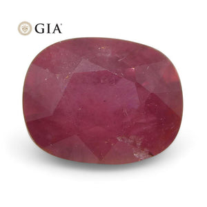 Ruby 1.12 cts 6.60 x 5.19 x 3.70 mm Cushion Red  $1200