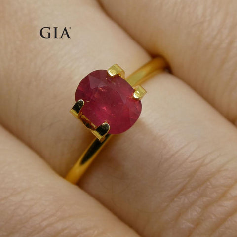 1.12 ct Cushion Ruby GIA Certified Unheated