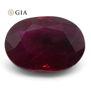 1.33 ct Oval Ruby GIA Certified Burma - Skyjems Wholesale Gemstones