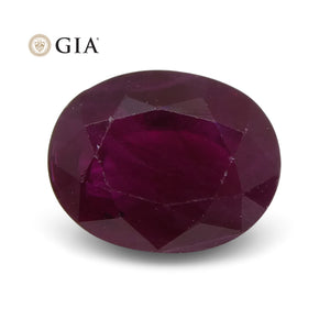 1.22 ct Oval Ruby GIA Certified Burma - Skyjems Wholesale Gemstones