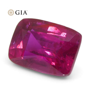 Vivid Red 2.13ct Cushion Ruby GIA Certified, Mozambique, Unheated/No-Heat - Skyjems Wholesale Gemstones