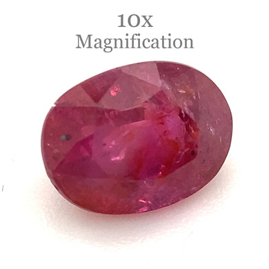1.67ct Oval Red Ruby GIA Certified Madagascar Unheated