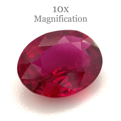 1.06ct Oval Red Ruby GIA Certified Mozambique Unheated