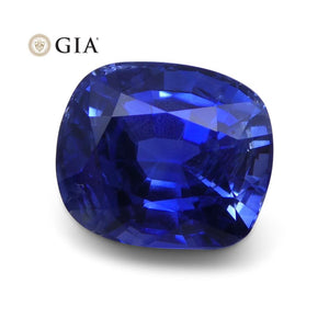 3.54 ct Blue Sapphire Cushion GIA Certified Unheated - Skyjems Wholesale Gemstones