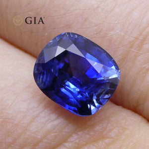 3.54ct Blue Sapphire Cushion GIA Certified Unheated - Skyjems Wholesale Gemstones