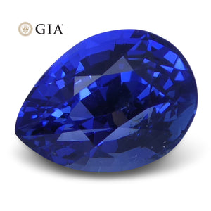 2.15 ct Blue Sapphire Pear GIA Certified Unheated, Burmese - Skyjems Wholesale Gemstones