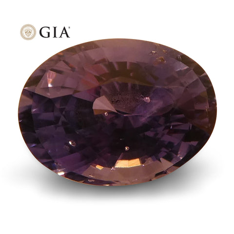 1.63 ct Color Change Sapphire Oval GIA Certified Unheated, Sri Lanka