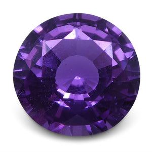 Purple Sapphire 1.27 cts 6.66x6.49x3.72mm Round Pinkish Purple  $1750