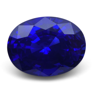 Deep Blue Sapphire 4.19 cts 10.48x7.94x6.17mm Oval Deep Blue  $17974