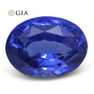 3.00 ct Blue Sapphire Oval GIA Certified Unheated, Sri Lanka - Skyjems Wholesale Gemstones