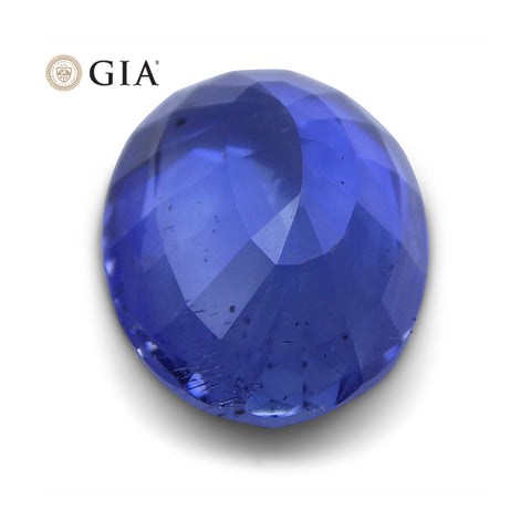 3.00 ct Blue Sapphire Oval GIA Certified Unheated, Sri Lanka
