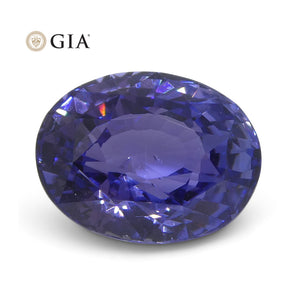 3.24 ct Color Change Sapphire Oval GIA Certified Unheated, Sri Lanka