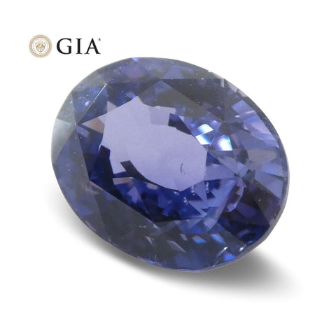 3.24ct Color Change Sapphire Oval GIA Certified Unheated, Sri Lanka, Bluish Violet to Pinkish Purple
