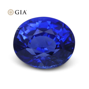 1.02 ct Blue Sapphire Oval GIA Certified Unheated, Sri Lanka - Skyjems Wholesale Gemstones