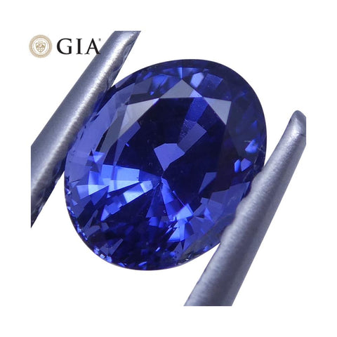 1.08 ct Vivid Blue Sapphire Oval GIA Certified Unheated, Sri Lanka