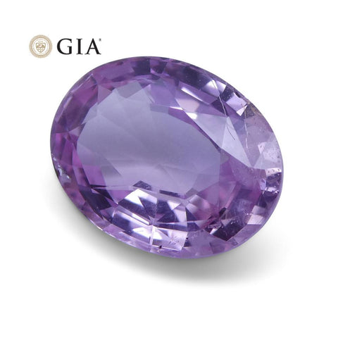 1.87 ct Pink Sapphire Oval GIA Certified Sri Lanka