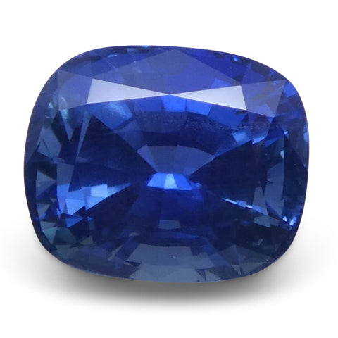 1.69 ct Bright Blue Sapphire Cushion GIA Certified Unheated