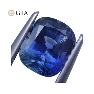 1.69 ct Bright Blue Sapphire Cushion GIA Certified Unheated - Skyjems Wholesale Gemstones