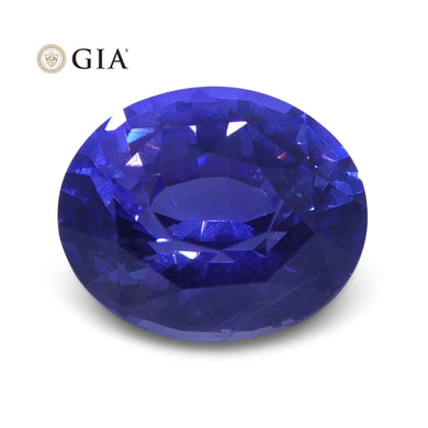 2.16 ct Color Change Sapphire Oval GIA Certified Unheated, Sri Lanka - Skyjems Wholesale Gemstones